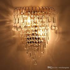 Chandelier Sconce 2018 Classic Chandelier Wall Light Gold Crystalline Wall