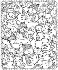 8 christmas coloring pages adults colored pencils markers