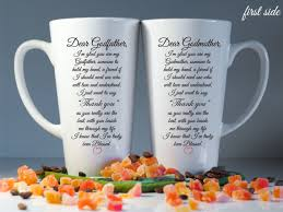 godmother mugs set of 2 personalized godmother godfather latte mugs godparent