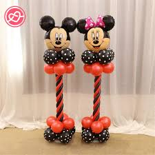 New 1 Set Mickey Mouse Balloons Party Decoration Black Red Dot
