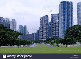 Modern Buildings View Of Modern Buildings Across The Manila American Cemetery And