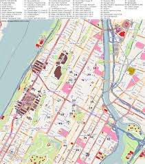Harlem Map New York by City Maps New York