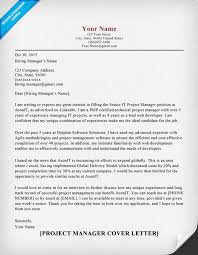 project manager cover letter project manager cover letter sle tips resume companion