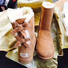 ugg bailey bow sale size 7 34 ugg shoes ugg authentic bailey bow corduroy boots sz 7