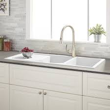 white double kitchen sink white drop in kitchen sink stylish and com with regard to 16