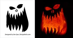 Free Scary Halloween Pumpkin Stencils - 10 free printable scary halloween pumpkin carving patterns