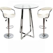 Glass Bar Table Glass And Chrome Stainless Steel Poseur Kitchen Bar Tables