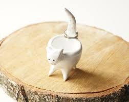 ceramic cat ring holder images Cat ring holder etsy jpg