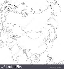Blank East Asia Map by Signs And Info Blank Asia Map Stock Illustration I2972531 At