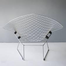 knoll bertoia bird chair diamond chair harry bertoia two