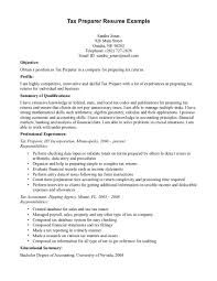 Resume Samples For Accounting by Sample Resume Tax Preparer Tax Preparer Resume Example Tax