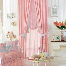 Pink Curtains For Girls Room Pink Polyester Plaid Kids Curtain For Girls Room
