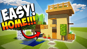 minecraft how to make a small house with farm easy tutorial