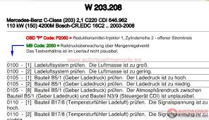 dtc fehlercode mercedes w203 208 auto repair manual forum
