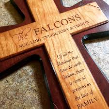 wooden crosses wooden cross with personalized engraving a cowboy s