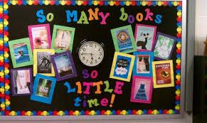 so many books so time reading back to school bulletin board