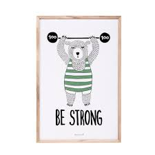 fab design mã bel be strong poster design by bloomingville mini room