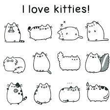 cat coloring pages images 20 free pusheen coloring pages to print