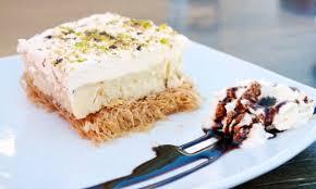 greek ekmek kataifi recipe custard and whipped cream pastry with