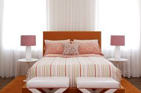 bedroom window treatments with crown molding and wall decor also