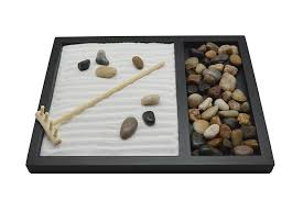 Tabletop Rock Garden Zen Sand Rocks Rake Garden Kit Tabletop Gifts Decor
