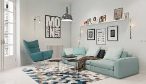 Very Small Living Room Ideas Amazing Small Scandinavian Living Room With Teal Chair And Beehive