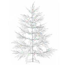 outdoor pre lit white christmas tree 104 led 5 u0027 rona