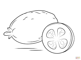 whole apple and cross section coloring page free printable
