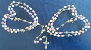 wedding lasso rosary floral rosary rosaries flower jewelry