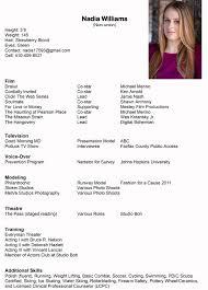 Fashion Model Resume Resume Nadia H Williams