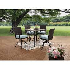 High Patio Dining Set Better Homes And Gardens Piper Ridge 5 High Patio Dining Set