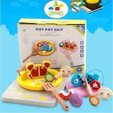jeux de fille cuisine avec bébé fille cuisine en bois jouet ensemble simulé cuisinière à