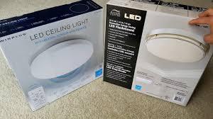 altair 14 led flushmount light unboxing smart led ceiling light motion sensor timer remote more