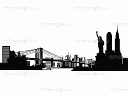 new york skyline wall decals vdv1030en artpainting4you eu new york skyline wall decals for bedroom with the empire state building brooklyn bridge