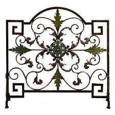 ideas u0026 tips single panel metal fireplace screens for fireplace