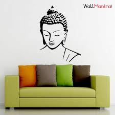 Eiffel Tower Wall Decals Buy Wallmantra Buddha Wall Sticker Large 87x120 Cm Online At Low