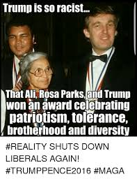 Rosa Parks Meme - trump is so racist that ali rosa parks and trump won an award