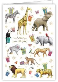 jungle animals go birthday card karenza paperie