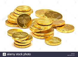 hanukkah chocolate coins chocolate gold coins with menorah embossed hanukkah gelt