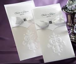 wedding invitations philippines embossed ivory white vertical wedding invitation card with white