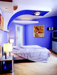 blue wall paint colors on home interior design with blue wall