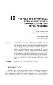 example of methodology in thesis the role of conventional research methods in information systems inside