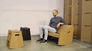 Rocking Chair Couch Supakede Cardboard Rocking Couch Youtube
