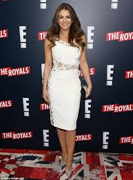 elizabeth hurley celebrates launch of show the royals daily