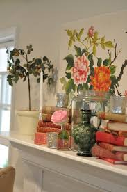 spring home decor fireplace mantel shelf couches decorating ideas