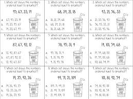 free worksheets ordering numbers first grade free math