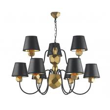 david hunt lighting sha1354 shard 9 light ceiling pendant in black