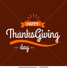 happy thanksgiving day typographic poster design stock vector