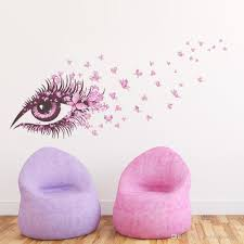 Sexy Fairy Flower Girl Eye Butterfly Love Heart D Vinyl Wall - Butterfly kids room