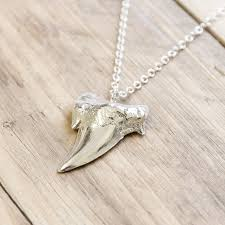 tooth pendant necklace images Fossil shark tooth silver pendant necklace by saints of bohemia jpg